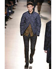 NWT DRIES VAN NOTEN RUNWAY BLUE PAISLEY QUILTED JACKET IT52 US42