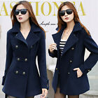 Korean Trench Slim Coat Wool Long Outwear Overcoat Winter Fashion Womens Parka