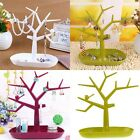 Jewelry Bird Tree Display Stand Bracelet Earrings Ring Makeup Holder Rack Tray
