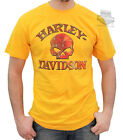 Harley-Davidson Mens Rusted Willie G Skull Yellow Short Sleeve T-Shirt