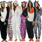 Womens Ladies Christmas ZipUp Fleece Onesie Onezee Onesee Onsie All In One, Hood
