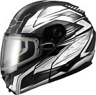 GMAX Matte Black/White GM64S Modular Snow Carbide Helmet