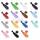 Men's Formal Occassion Jacquard Woven Silk Neckties Tie+Hanky+Cufflinks Sets