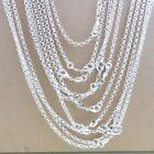 """Hot 5Pc 1.4mm High Quality 925 Sterling Silver """"O"""" Rolo Chain Necklace 16""""-28"""""""