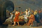 THE DEATH OF SOCRATES GREEK PHILOSOPHER PAINTING BY JACQUES LOUIS DAVID REPRO