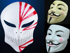 Halloween V For Vendetta Ichigo Kurosaki Cosplay Anonymous Mask Dress Costume