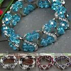 1PC Faceted Crystal Glass Beads Stretchy Bracelet Pick Colors Jewelry Fashion