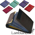 Lambland Mens / Womens Grained Leather Card / ID / Store Card Case