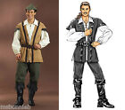 Men's Robin Hood & Pirate Shirt Vest Pants Costume Butterick 4574 Sewing Pattern