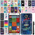 For Motorola Moto X 2014 2nd Gen Cute Design PATTERN HARD Case Back Cover + Pen