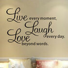 Live Laugh Love Vinyl Bedroom Living Room Wall  Stickers Wall Decals Art Hot New