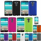 Ultra Thin Plastic Clip On Hard Shell Shockproof Case Cover For LG G3+LCD Guard