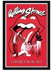 New Black Wooden Framed The Rolling Stones It's Only Rock & Roll Poster