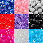 Perles Intercalaire Facette Acrylique 6x6mm M1095