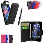 FLIP WALLET CASE POUCH PU LEATHER COVER FOR NOKIA LUMIA 830 + SP+ PEN