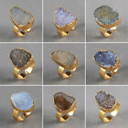 Lovely Natural Agate Druzy Geode Ring AG08205