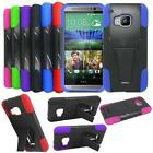 For HTC One M9 Phone Case Hybrid Rugged Cover with Kickstand