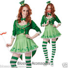 CL337 Lucky Charm Womens Leprechaun Irish St Patricks Fancy Dress Costume Outfit