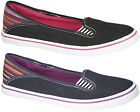 Womans Ladies New Black / Navy Canvas Plimsoles Summer Shoes UK 3 - 8