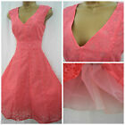 NEW DEBENHAMS VTG RETRO 50'S DRESS PROM COCKTAIL ROCKABILLY PINK SIZE 8 - 20
