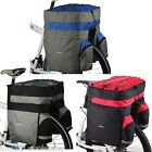 60L Cycle Bicycle Bag Bike Double Side Panniers Rear Rack Tail Seat Trunk Bag UK