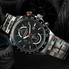 Curren Fashion Black Men's Stainless Steel Date Military Sport Quartz Army Watch