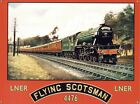 Vintage Railway Advert The Flying Scotsman Red Tin Sign 40x30cm