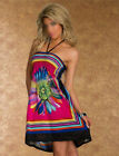 2014 summer Women Floral Sleeveless Beach Boho Maxi Sundress MINI Dress USHF
