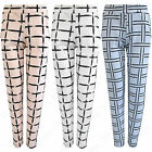 NEW WOMEN PASTEL CHECK CIGARETTE TROUSERS LADIES STRETCH TAPERED CELEB LOOK PANT