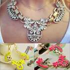 Fashion New Crystal Rhinestone Cross Pendant Gold Plated Chain Necklace Hot Sale