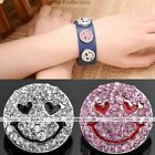 1pc Charms Smile Face Heart Crystal Snap Button Fit Punk Bracelet DIY Gift