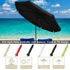10ft Aluminum Outdoor Patio Umbrella w/Valance Crank Tilt Sunshade Market Garden