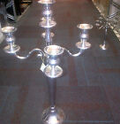 Chrome Candelabra 5 arm Chrome new Wedding Occasion heavy metal Table Centres