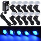Deck Light Yard Garden Patio Stairs Landscape Outdoor LED Pathway Kit Color Opt