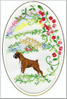 Boxer Dog Rainbow Bridge Card Embroidered by Dogmania