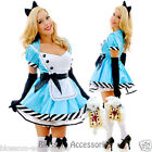 K53 Ladies Alice in Wonderland  Disney Fancy Dress Up Party Halloween Costume
