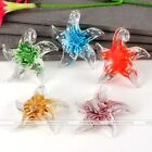 Hot Boho Lampwork Glass Beauty Starfish Flower Casual Pendant Bead Fit Necklace