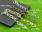 50 Silver Plated/Gold Plated/White Gold Plated/Antique Brass Chain Extension 4cm