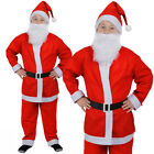 CHILDS SANTA 5 PIECE SANTA CLAUS FATHER CHRISTMAS COSTUME BOY GIRL FANCY DRESS