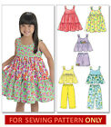 SEWING PATTERN! MAKES TOP~DRESS~SHORTS~PANTS! TODDLER 1 TO CHILD 6! GIRL CLOTHES
