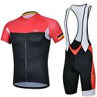 Quick Dry Cycling Clothing Bicycle Short Sleeve Jersey + (Bib) Shorts 3D GEL Pad