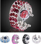 Lady's Stainless Steel Cluster Beads Bracelet Watches for Women Fashion Gift