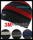 NEW MENS LADIES 40 GRAM THINSULATE BEANIE HAT CAP THERMAL FLEECE LINED