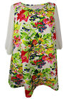 New Evans Cream Red Floral Print Tunic Dress Plus Sizes 16 - 28