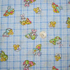 Springs Blue Plaid EASTER MINI PRINTS Cotton Blend Quilting Sewing Fabric 3-4 yd
