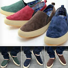 Britsh Men's Casual Breathe Freely Canvas Sneakers Slip On Loafer Pop Shoes