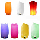 10x Wishing Lantern Chinese Paper Sky Floating Wedding Flying Party Lamp 7Colors