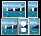 WHITE  LIGHTHOUSE OCEAN  K1 LIGHT SWITCH COVER PLATE OR OUTLETS U PICK PLATE