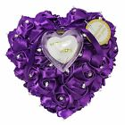 Good Stain Ring Pillow With Transprent Ring Box Heart Unique Wedding Groom Favor