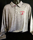 University of Alabama Men's Grey Athletic Long-Sleeve Polo